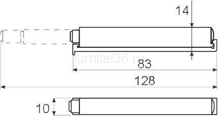 Амортизатор(толкатель) GTV с магнитным окончанием, серый