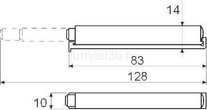 Амортизатор(толкатель) GTV с силиконовым окончанием, серый