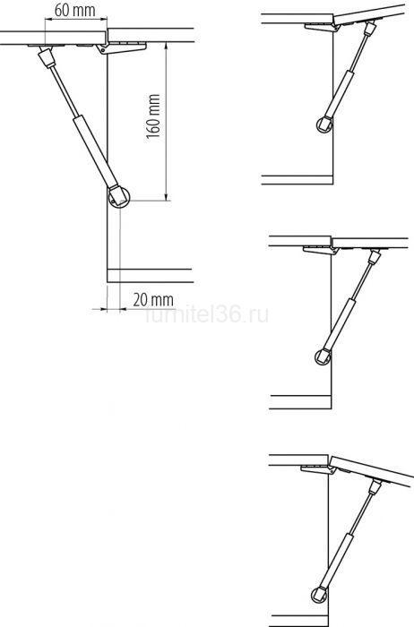 Газлифт 6кг. GTV L-160мм