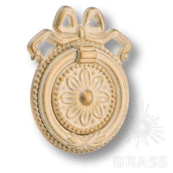 Ручка кольцо классика, слоновая кость с позолотой
