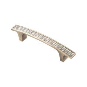 Ручка-скоба с кристаллами ACR08-96мм, бронза