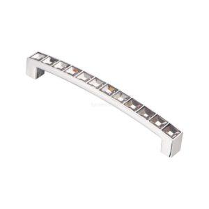 Ручка-скоба с кристаллами CRL02-128 хром