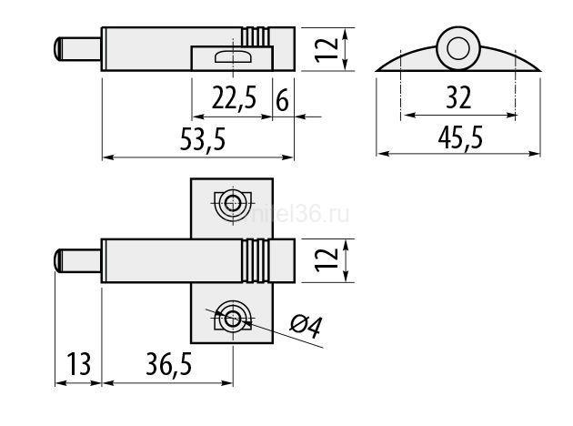Амортизатор GTV АМ-KRZYZ- крестообразный, серый
