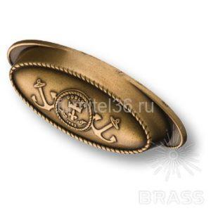 Ручка раковина морская коллекция, античная бронза 64 мм