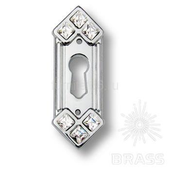 Ключевина декоративная со Swarovski, глянцевый хром