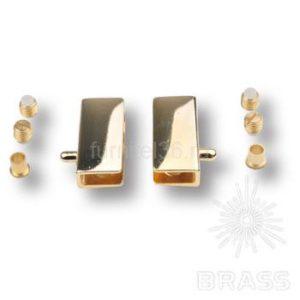 Комплект петель для стекланной двери (2 шт) золото