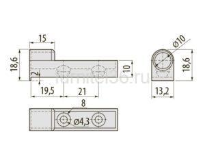Адаптер к амортизатору GTV АМ-OD- прямой, серый
