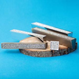 Ручка-скоба с кристаллами CRL06-128 хром