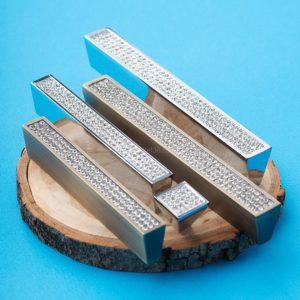Ручка-скоба с кристаллами CRL06-128 ВА бронза