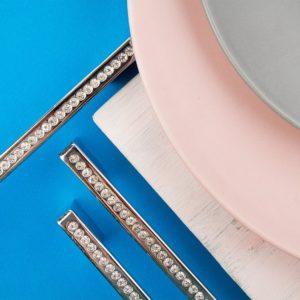 Ручка-скоба с кристаллами CRL30-160 хром