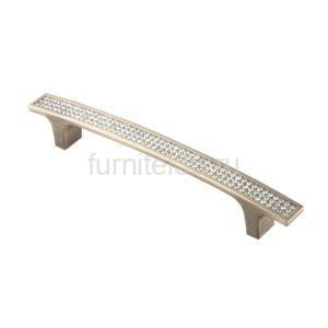 Ручка-скоба с кристаллами CRL08-128 ВА бронза