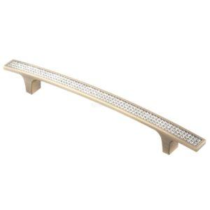 Ручка-скоба с кристаллами CRL08-160 ВА бронза