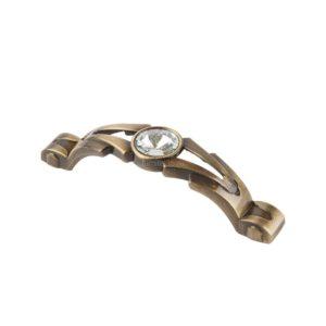 Ручка-скоба с кристаллами CRL23-96  ,бронза