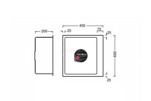 PR6045 Мойка silk brash 3мм