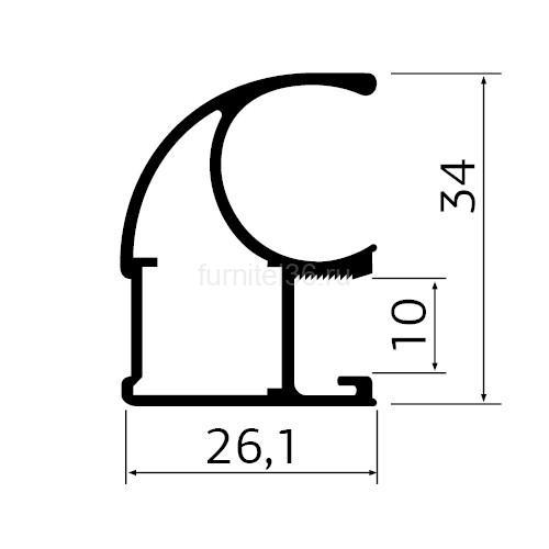 Ручка  MS125 асимметрия 5,4м золото