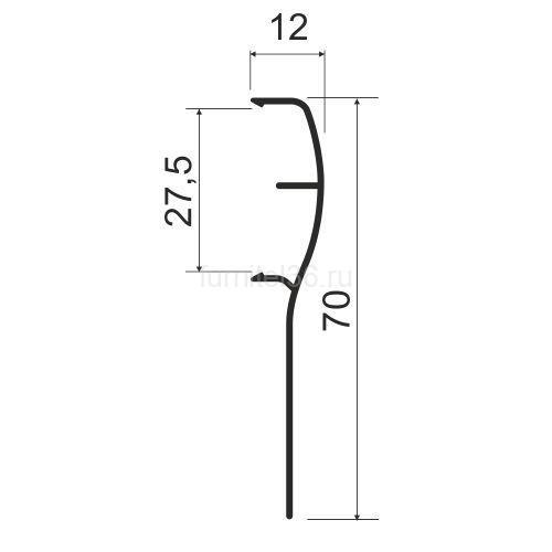 Накладка для подвесной системы 5,8 венге глянец   (ВЫВОД!!!)