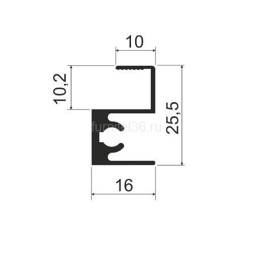 Профиль горизонт.MS 215 (N) верх  серебро 5,8м  (161,162)