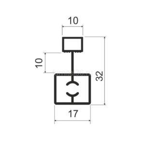 Профиль разделительный MS 413 (F) серебро 5,8м (163)