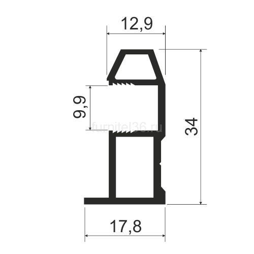 Ручка  асимметрия MS 161 (N) серебро 5,4м