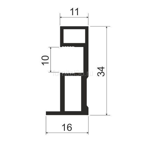 Ручка  асимметрия MS163 (F)  серебро 5,4м