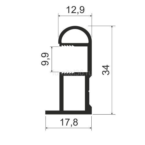 Ручка асимметрия MS162 (N) серебро 5,4м