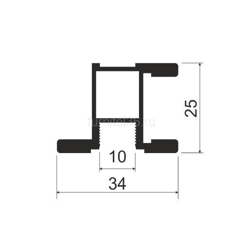 Ручка симметрия MS140  серебро  5,4м
