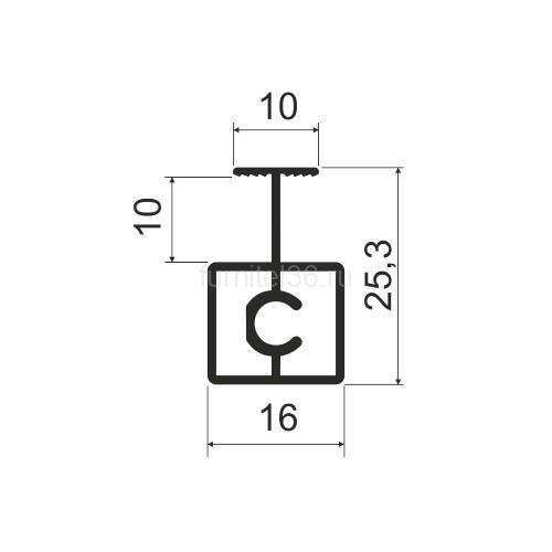 Профиль разделительный MS 415 (N) шампань 5,8м (162)
