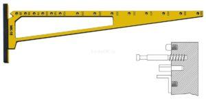 """Мебельный кондуктор """"угольник малый""""  шаг 25/50 диаметр втулки 5 мм"""