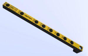 Мебельный кондуктор укороченный шаг 25/50 диаметр втулки 7 мм